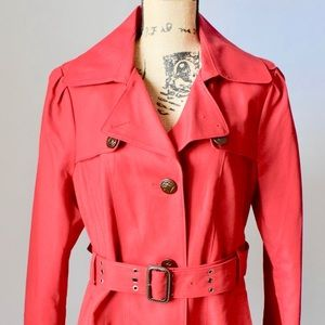 Kenneth Cole Red Trench Coat